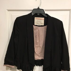 Anthropologie Black Peplum Jacket